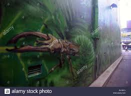 Wall Murals Australia Street Art Wall Mural In Alleyway Featuring Staghorn Beetle Civic
