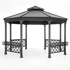 gazebo heavy duty sunjoy 13 foot heavy duty octagon hardtop outdoor