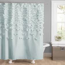 bathroom shower curtains crate and barrel turquoise shower