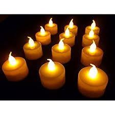 12 battery operated led tealight candles flameless