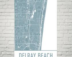 map of delray delray map etsy