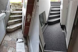 steinteppich verlegen treppe 1 5 kg wandbindemittel steinteppich für aussen wand treppe