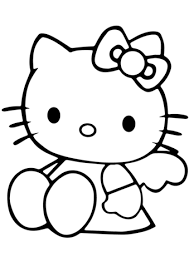 cute kitty coloring free printable coloring pages