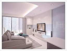 simple clean all white design interior design singapore living