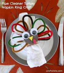 turkey napkin ring pipe cleaner turkey napkin ring craft craftulate