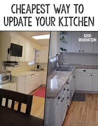 how to cheaply update kitchen cabinets cheapest way to update a kitchen