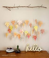 Branch Decor Watercolor Paper Leaf U0026 Branch Mobile Happiness Is Homemade