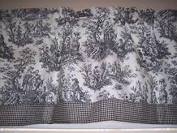 Black Gingham Curtains Black On White Waverly Rustic Toile W Gingham Ck Trim
