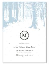 winter wedding programs winter wedding programs on white seeded paper winter forest by