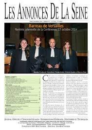 chambre nationale des huissiers annonces edition du jeudi 6 novembre 2014 by annonces de la seine issuu