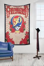 Grateful Dead Curtains 3d Grateful Dead 50th Anniversary Steal Your Face Tapestry 60 X 90
