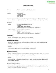 Resume Free Template Download Curriculum Vitae Outline Jospar