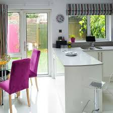 kitchen ideas uk white lacquered kitchen diner modern kitchen ideas housetohome