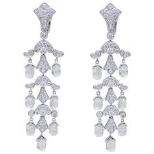 diamond earrings on sale cartier briolette diamond earrings for sale at 1stdibs
