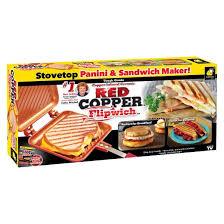 Which Sandwich Toaster As Seen On Tv Copper Flipwich Stovetop Panini U0026 Sandwich Maker