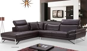 Left Sectional Sofa 2194 Leather Sectional Sofa In Chocolate Free Shipping Get