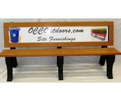 Park Bench And Table Advertising Park Bench 6 Foot Recycled Plastic Ad Bench