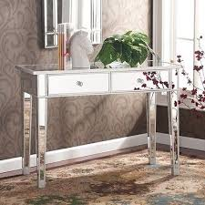 Hallway Accent Table Mirrored Accent Table Console Entryway Furniture Hallway Storage