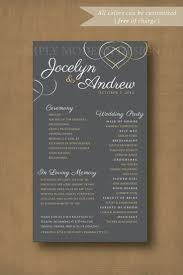 Wedding Ceremony Programs Diy 13 Best Wedding Programs Images On Pinterest Wedding Program
