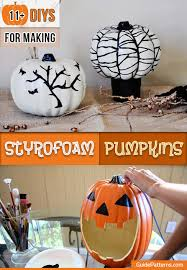 styrofoam pumpkins 11 diys for styrofoam pumpkins guide patterns