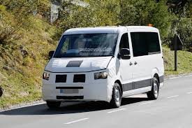 vw minivan spyshots 2016 2017 volkswagen crafter takes after the t6
