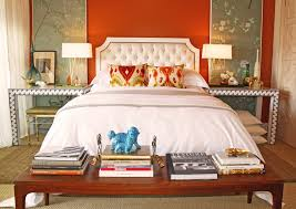 bedroom orange bench bedroom eclectic with chinoiserie chic wood