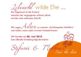 save the date sprüche save the date karten wilde ehe ade orange aprikot