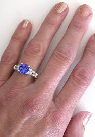 tanzanite engagement ring tanzanite and ring in 14k white gold gr 7077