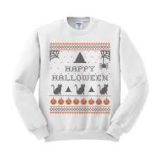 crewneck happy halloween sweater from teesandtankyoushop