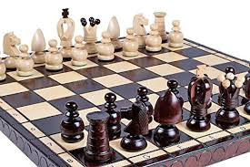 Unique Chess Set Chesscentral The Volkh Unique Wood Chess Set With Chess Board