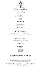 thanksgiving day menu picture of eli s table charleston
