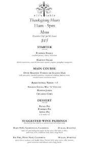 thanksgiving day menus thanksgiving day menu picture of eli s table charleston