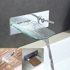 wall mount waterfall faucet wall mount faucets delta wall mount