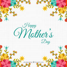 flowers for mothers day geometric background with decorative flowers for mother u0027s day