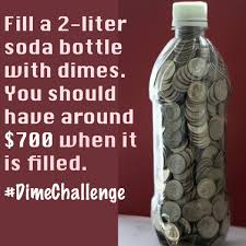 Challenge Water Filled Fill A 2 Liter Bottle With Just Dimes And You Should Save About