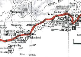 map of suva city fiji route descriptions maps ride the road