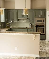 green chalk paint kitchen cabinets painting kitchen cabinets before after