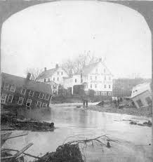 Map Of Northampton Ma Mill River Flood Of 1874 Disasters In The Valley