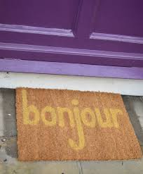 Bonjour Doormat Quickie Diy Cheery Welcome Mat U2013 From China Village
