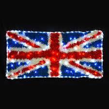 Flag Lights White U0026 Blue Flashing Led Light Union Jack Tinsel Flag