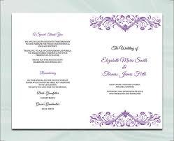 Booklet Wedding Programs 17 Wedding Program Template Free U0026 Premium Templates