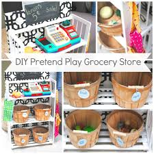 diy kids pretend play grocery store from a bookcase when not in
