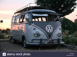 custom volkswagen bus custom vw volkswagen camper van engine stock photo royalty free