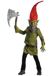 scary costumes evil garden gnome costume boys scary costumes