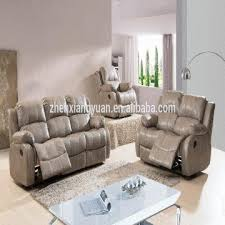 Leather And Fabric Living Room Sets Living Room Products Modern Leather Air Fabric Gray Color Recliner