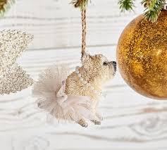 bottle brush ballerina bulldog ornament pottery barn