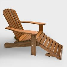 Adirondack Chair With Ottoman Wood Adirondack Chair With Stow Away Ottoman World Market