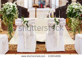 Bride And Groom Chair Bride Grooms Chairs Inside Church Stock Photo 119554606 Shutterstock