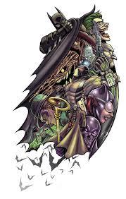 bat mash tattoo sleeve by themasman on deviantart