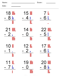 Subtraction Worksheets For 1st Grade Free Addition Worksheets Part 1 Worksheet Mogenk Paper Works